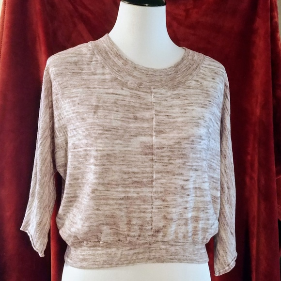 Arizona Jean Company Sweaters - Cropped sweater size large Purple and Gray Marled